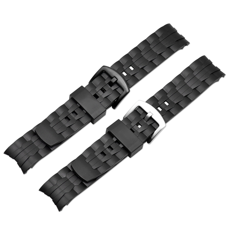 Watch Band Strap Pin Buckled PU Leather Wristwatch Bands Replacement Accessories For Casio Edifice Series EF-550/EF-523