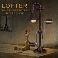 Винтажная железная водопроводная настольная лампа. Креативный для велосипеда ноги педали передач Ретро настольные светильники лампа Лофт