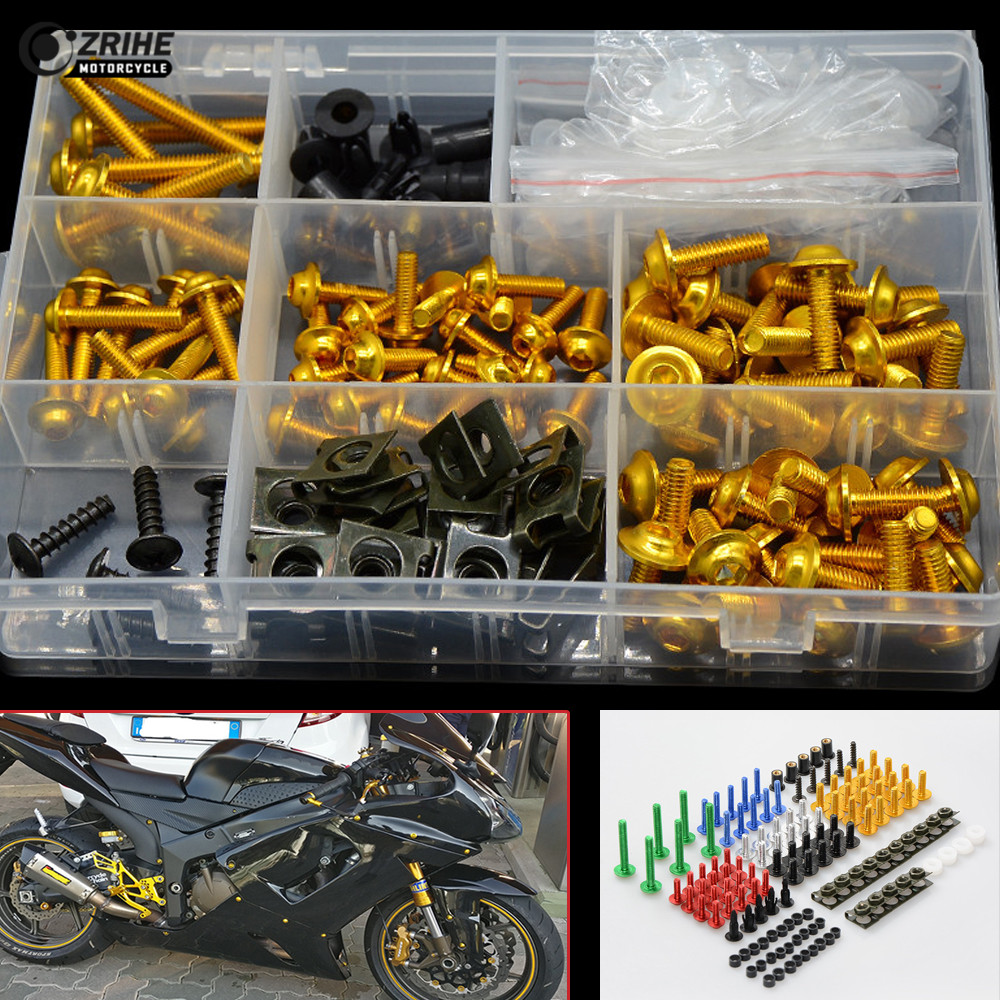 A set of motorcycle accessories custom fairing screw bolt windscreen screws For Yamaha YZF R125 YZF R15 YZFR15 MT02 MT25 MT07