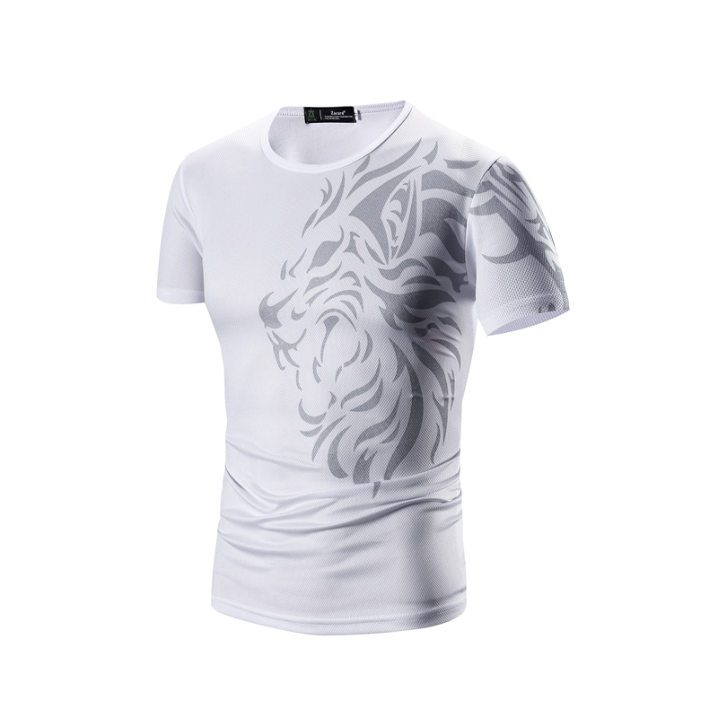 T-Shirt Men's 2017 Short Sleeve Hip Hop T-Shirt Men's Tattoo Print Casual Men's T-Shirt Casual T-Shirt Size 3XL