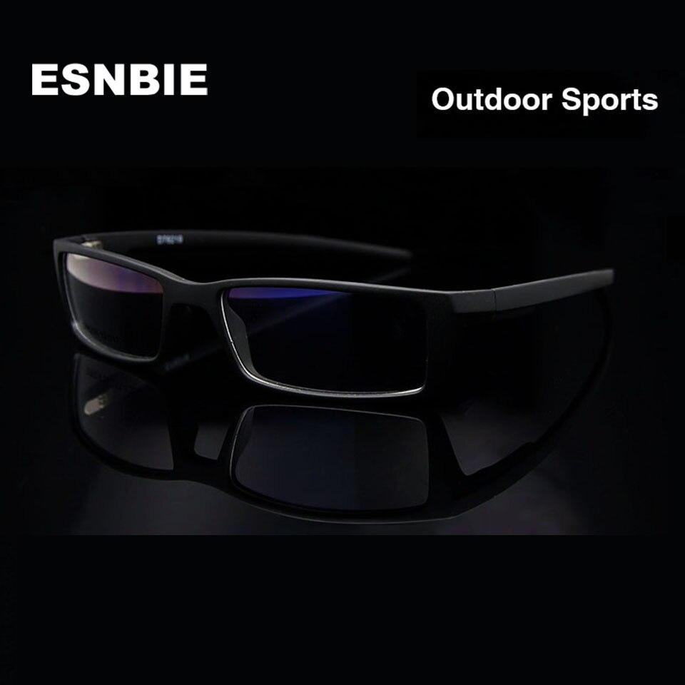 ESNBIE חדש מסגרות משקפיים לגברים משקפי שחורים מסגרת TR90 מסגרת משקפי שמש מרשם זכוכית אופטית Rx