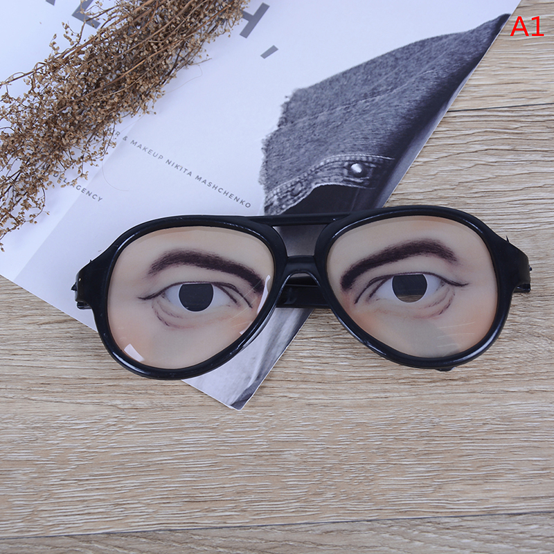 One Piece Newest Party Glasses Fake Gag Prank Eyes Ball Joke Fun Antistress Novelty Funny Gadgets Gift Funny Glasse Joke Toy