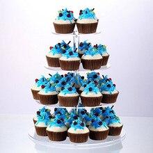 Акриловая подставка для торта, круглая чашка, держатель для кекса, свадебные украшения для дня рождения, десертные подставки для сугарподелок, 2019