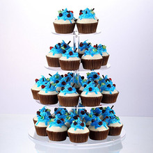 เค้กอะคริลิครอบถ้วยCupcakeผู้ถืองานแต่งงานตกแต่งขนมหวานSugarcraftsจอแสดงผลยืน2019