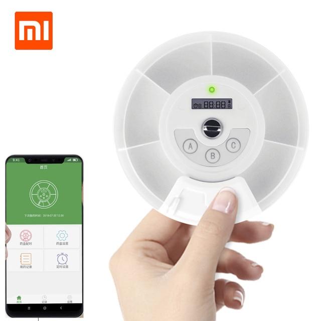 Xiaomi Mijia ZAYATA Medical Smart Mini Pill Box Case Portable Case Phone Smart Synchronized Taking Medicine Reminder App Monitor