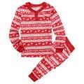 Familia A Juego de la Navidad Pijamas Set Mujeres Hombres Niños de Algodón camisa de Dormir