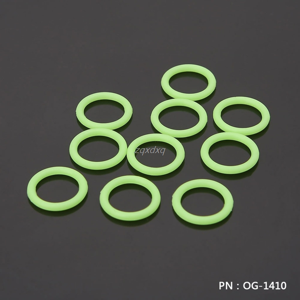 G1/4'' Green Black Silicone Seal O-ring 10pcs/set Liquid Cooler System Accessories Fitting Silicone Seal Ring Glow Dark Whosale