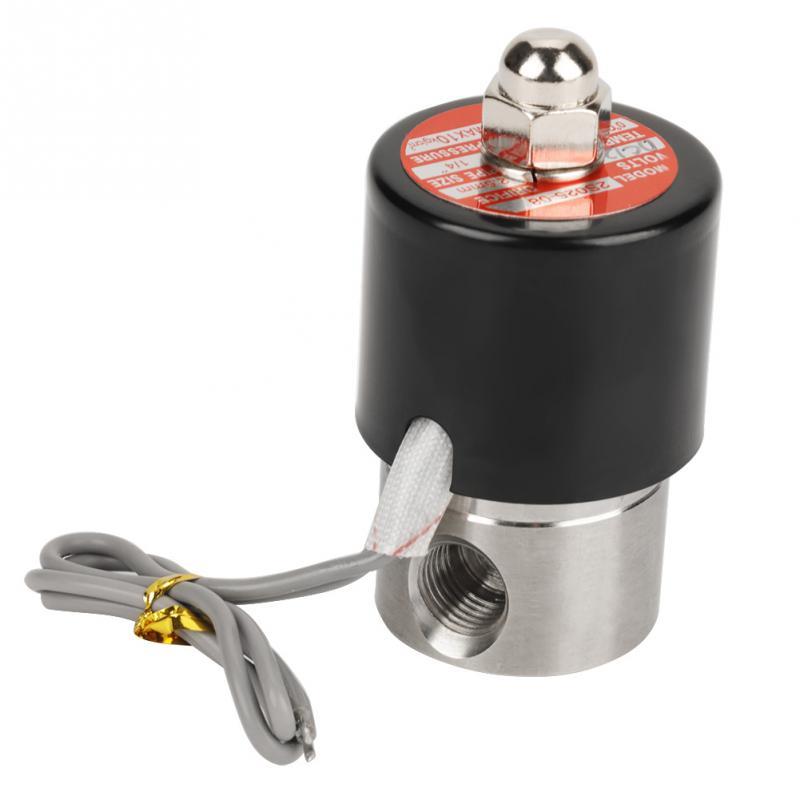 304 Edelstahl Dc 12 V G1/4 Elektrische Magnetventil N/c Normalerweise Typ Werkzeuge Zubehör Eine Lange Historische Stellung Haben Sanitär Ventil