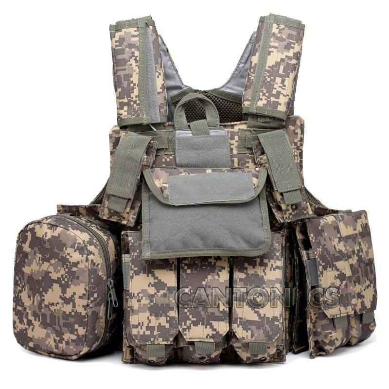 Gilet de Combat tactique Molle avec poche de Magazine sac utilitaire libérable armure Paintball plaque transporteur grève gilets équipement militaire
