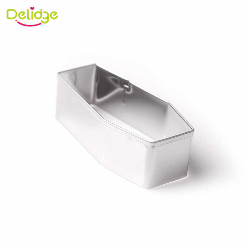 Delidge 1 قطعة الفولاذ المقاوم للصدأ هالوين التابوت قالب الكعكة 3D إمدادات حفلة السكر قالب البسكويت كعكة فندان أدوات المعجنات