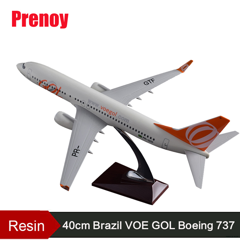 40cm Boeing 737 Brazil GOL Aircraft Model Brazil Airline B737 Airplane Airbus Resin GOL Brazil Aircraft Model Aviation Airways 40cm resin aircraft model boeing 737 nigeria airways airplane model b737 med view airbus plane model stand craft nigeria airline