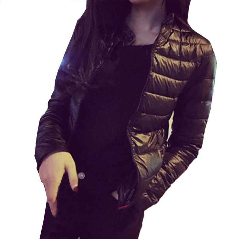 2018 New Women   Parkas   Casual Jackets black Autumn Winter jacket Women Coat Fashion Female Down jacket 3164
