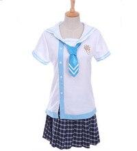 Trajes azul marino para las mujeres azul marino uniforme cosplay desgaste rendimiento ropa estudiante uniforme escolar japonés