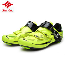 Santic Professional Athletic Road Bike Cycling Shoes Men Racing Bicycle Sneaker Self-Locking Bike Shoes sapatilha ciclismo mtb