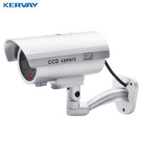 Waterproof Dummy CCTV Camera With Flashing LED For Outdoor or Indoor Realistic Looking Fake Camera for Security
