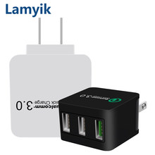 Quick Charge 3.0 USB Charger QC3.0 Mobile Phone Fast Wall Charger For Xiaomi Samsung S8 iPhone X 8 7 iPad LG Sony TCL US Plug(China)