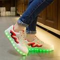 Eur size 35-44 tenis led feminino simulation Basket LED Running Shoes  Light Up trainers Luminous glowing Sneakers led slippers