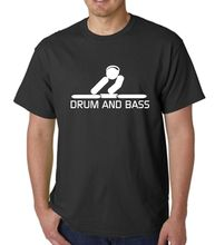 Mens Novelty T Shirt Drum and Bass Music DJ Decks Vinyl Records New Shirts Funny Tops Tee Unisex Basic Models