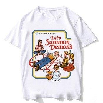 2018 summer ouija Tshirt men satan shirt...