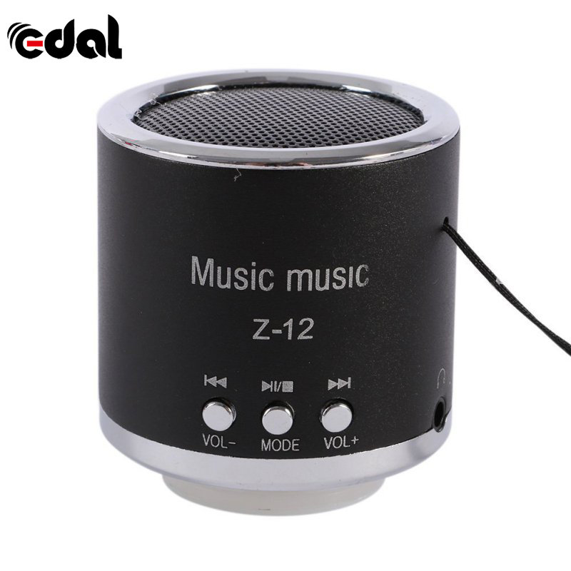 EDAL Handfree Wired Portable Mini Speaker Subwoofer FM Radio USB Micro SD TF Card MP3 Player