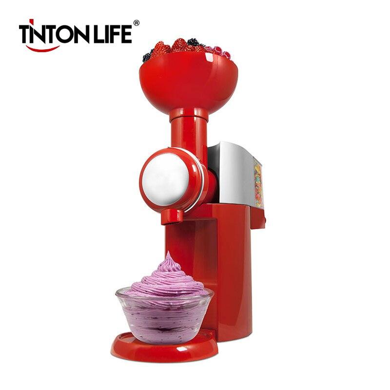 TINTON LIFE 110V-220V Frozen Fruit Dessert Machine Fruit Ice Cream Machine Home Full Automatic Mini Household Ice Cream Maker