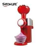 TINTON LIFE 110V 220V Frozen Fruit Dessert Machine Fruit Ice Cream Machine Home Full Automatic Mini Household Ice Cream Maker