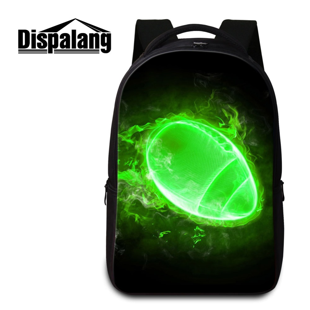 Dispalang 2018 Newest Laptop Computer Backpack for Men Personalized Notebook Bag for Boy 3D Print Balls Patterns on Backbag GirlDispalang 2018 Newest Laptop Computer Backpack for Men Personalized Notebook Bag for Boy 3D Print Balls Patterns on Backbag Girl