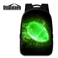 Dispalang 2018 Newest Laptop Computer Backpack for Men Personalized Notebook Bag for Boy 3D Print Balls Patterns on Backbag Girl