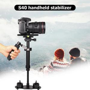 Image 4 - S40 אלומיניום סגסוגת כף יד DSLR מייצב נייד אנטי לנער טלפון מחזיק הר מצלמה מייצב תמונה DSLR אבזרים