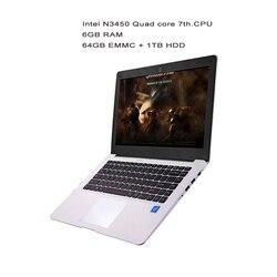 GMOLO 14 بوصة ultrabook كمبيوتر محمول إنتل N3450 رباعية النواة 6 GB RAM64GB EMMC SSD 1 تيرا بايت HDD HDMI كاميرا ويندوز 10 كمبيوتر محمول