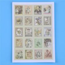 80 Pcs/lot (1 Bag) Diy Vintage Retro Stamp Stickers London Paris Prince Alice Sticky Scrapbooking Paper