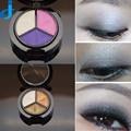 1 PC 3 Cores de Glitter Em Pó Da Sombra de Olho Paleta Moda Olhos Smoky Matte Eyeshadow Palette Maquiagem Com Escova & Espelho 2HY19