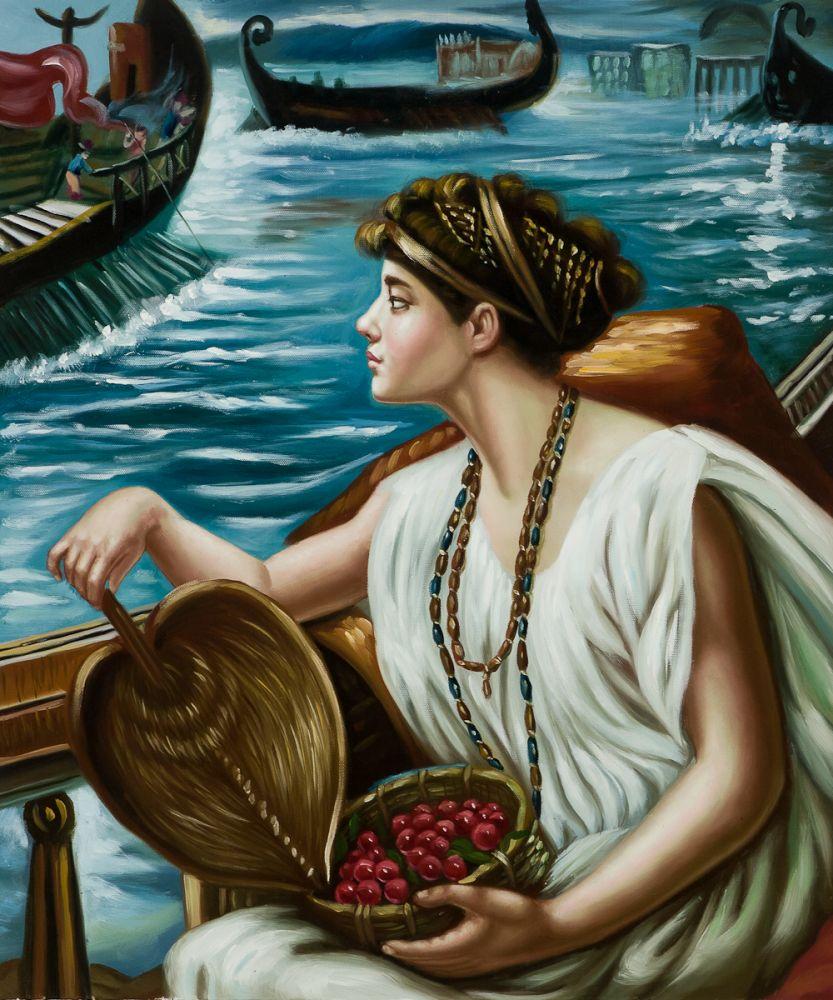 Декоративная настенная Картина на холсте, изобразительная картина маслом, римская лодка, 1889, классическое искусство, Репродукция, ручная ро