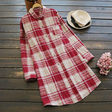 cf4955d32e9c1b Classic Plaid Shirt Full Sleeve Autumn Tops Blusas Mujer 2018 Casual Peter  Pan Collar Cotton Linen