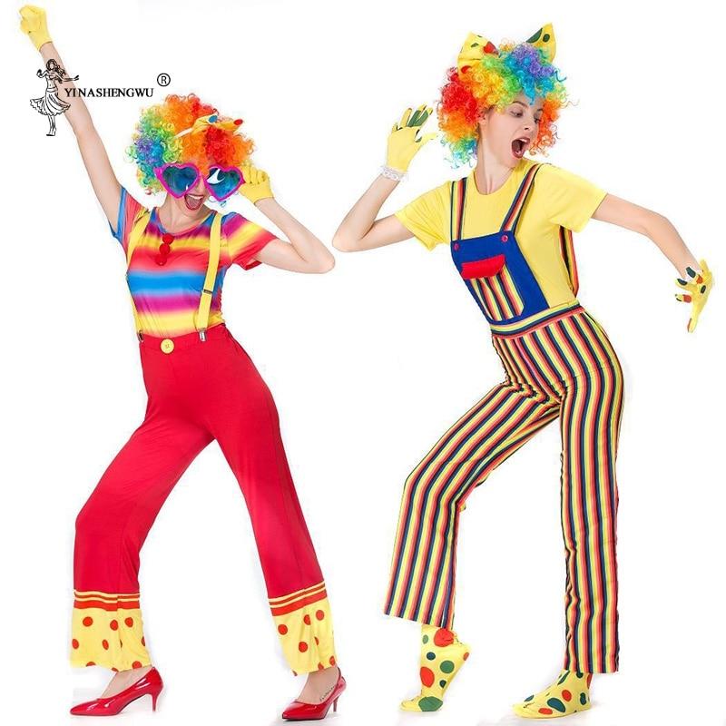 Colourful Circus Clown Ladies Fancy Dress Fun Carnival Adults Womens Costume New