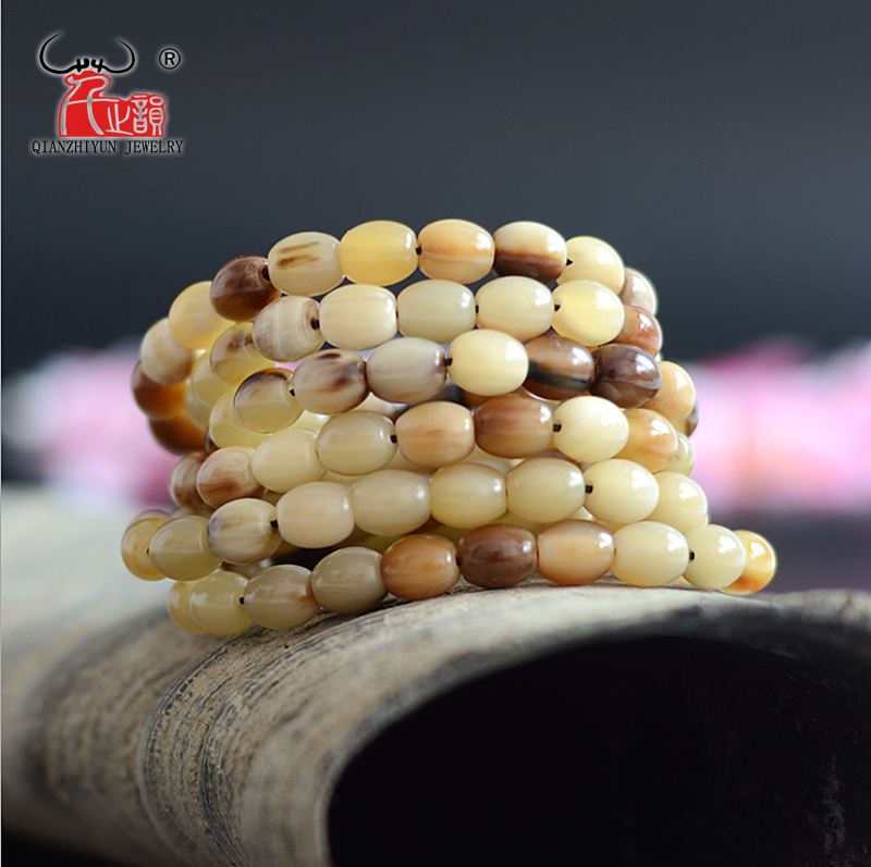 Bead Yak-Horn-Beads Jewelry Pearls Making-Hole Long-String Wholesaling Natural for 20PCS