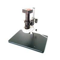 Полный набор 21MP HDMI USB пайки IC телефон ремонт цифровой видео микроскоп Камера увеличением 180X 300X C Mount объектив