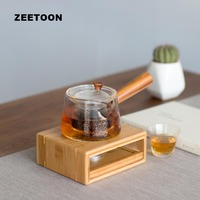 Natural Bamboo Warm Tea Table Warmer Warm Coffee Water Stove Candle Heater Heating Teapot Stand Shelf Holder Teaware Accessories