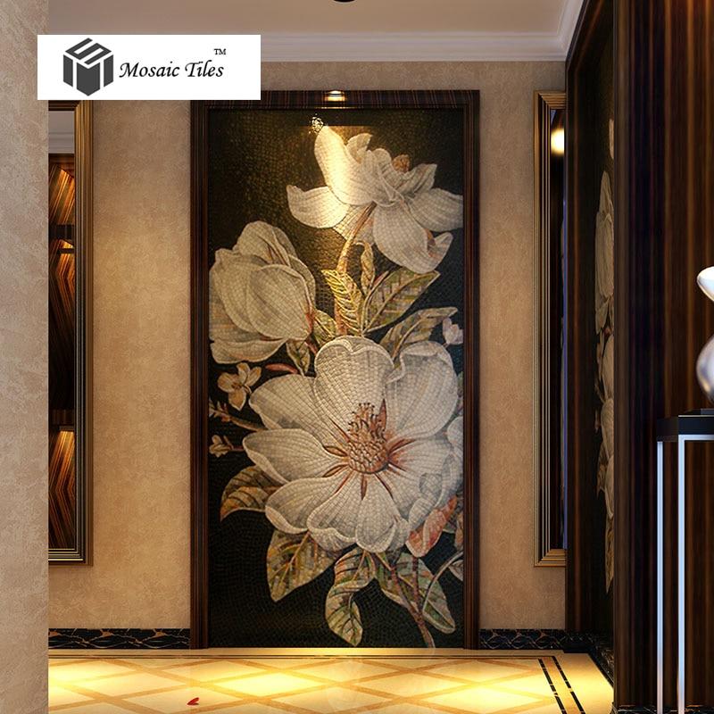 aliexpress.com : acquista floreali a mosaico bisazza fatto a mano ... - Piastrelle Bagno Mosaico Bisazza