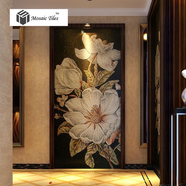 Floreali a mosaico Bisazza fatto a mano ingresso parete backsplash ...