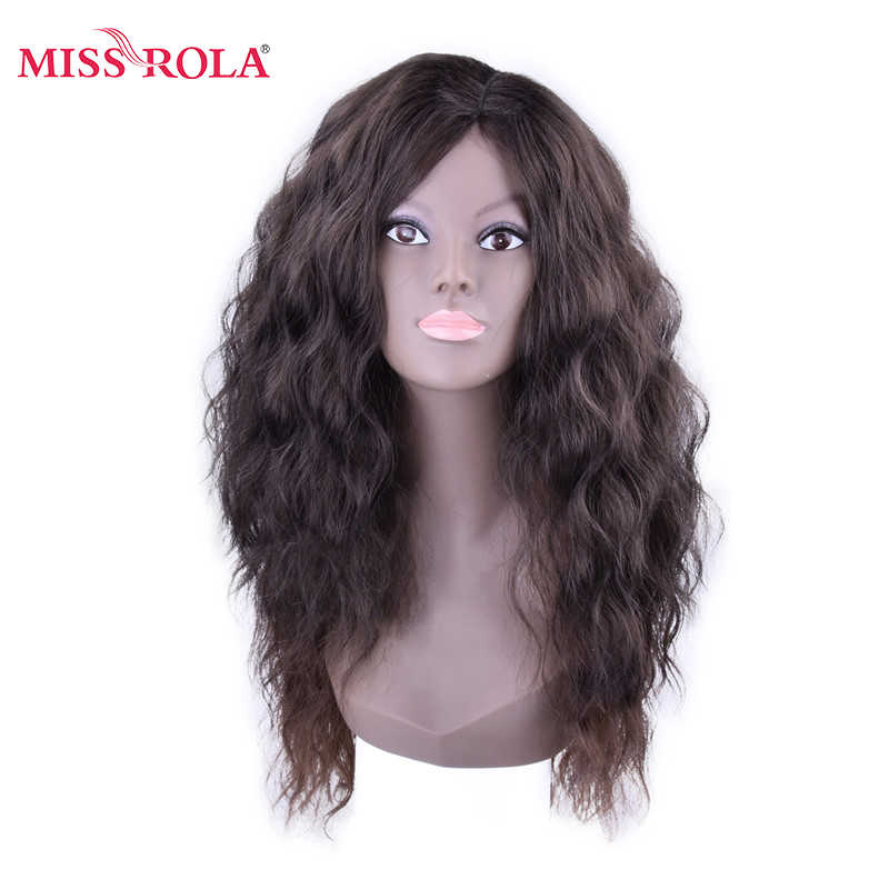 Miss Rola Wavy Kanekalon Synthetic Hair Weaving Full Head Sew In Hair Weave Fiber Medium Long Hair Extensions 6pcs/set
