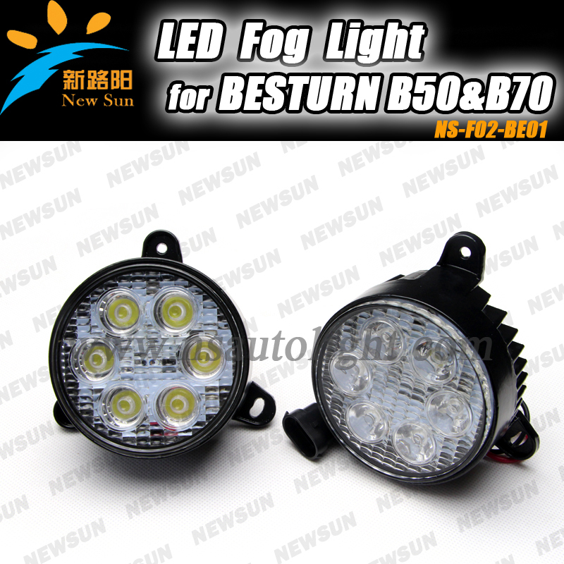 Super Bright 16W LED Fog Light Head Lamp Car DRL Driving Daytime Running light for BESTURN B50 and B70 1 pair super bright 18w blue led eagle eye hawkeye car headlight drl daytime running light driving fog daylight safety head lamp
