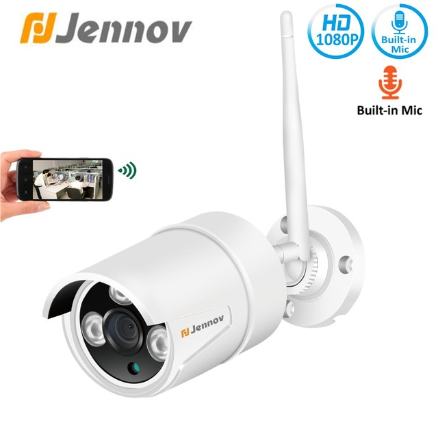 Jennov Hd 2mp 1080p Onvif Home Security Ip Camera Outdoor Wireless Cctv Video Surveillance Wifi P2p Audio Record Pet Cam