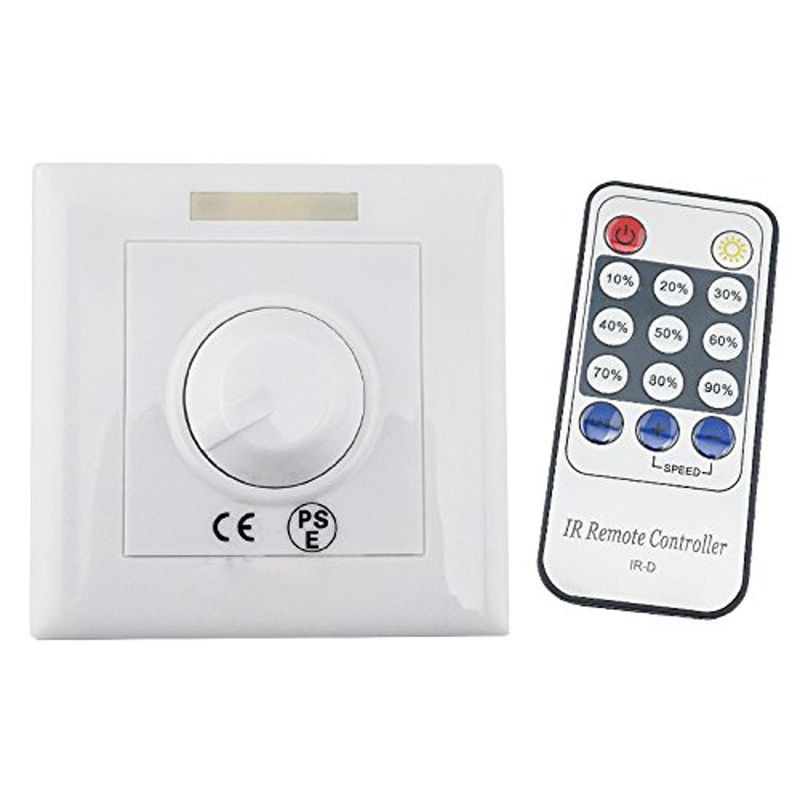 Considerate Led Dimmer Ir Remote 110v 220v Led Strip Led Dimmer Switch Controller Knob Triac Scr E27 Gu10 Dimmable Bulb/spotlight/downlight Pure And Mild Flavor