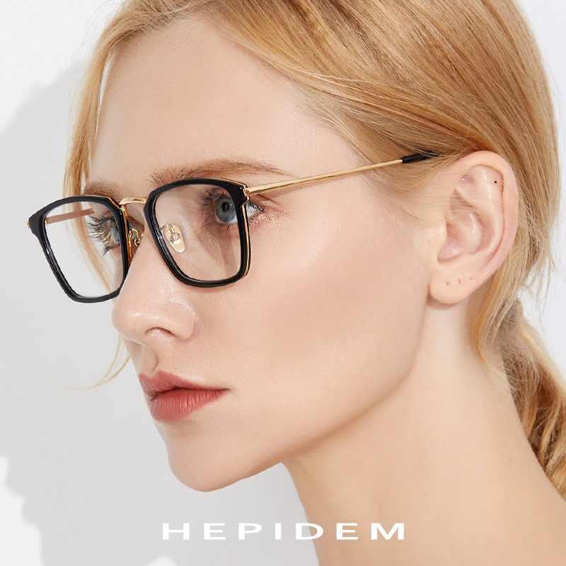 6b6d8856a9c Acetate Optical Glasses Frame Men Square Prescription Eyeglasses 2019 Women  Metal Myopia Spectacles Stainless Steel Eyewear