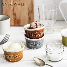ANTOWALL Ceramic Baking Bowl Souffle Pudding Cup Ice Cream Dessert Yogurt Cup Small Roasted Bowl