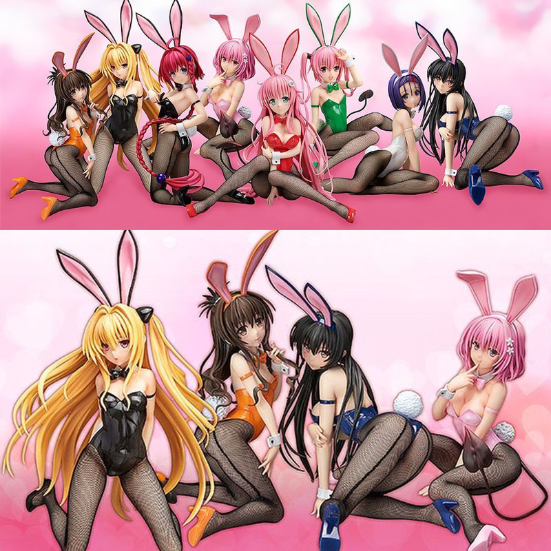 Toys Action-Figures Eve MOMO Yui Kotegawa Love-Ru Anime Pvc Bunny Girl Darkness 26-30cm