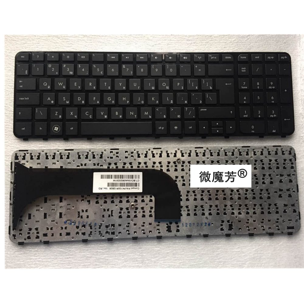 Russian NEW Keyboard FOR HP M6 M6-1000 M6-1100 M6-1200 PK130U92B06 RU Laptop Keyboard Without  Frame 699851-251 698401-251