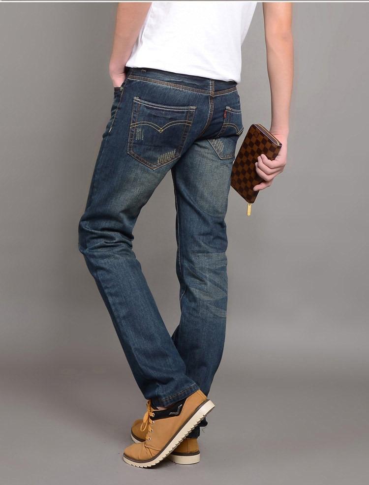 Online Shop NEW jeans men 2014 fashion Denim trouser casual cotton ...