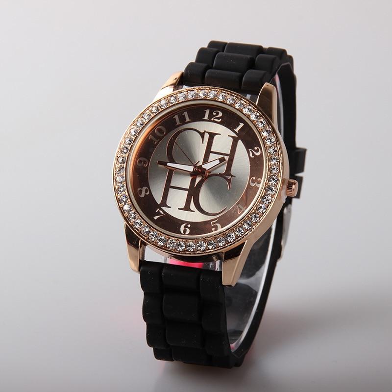 Reloj Mujer 2018 Nuevas Mujeres de Marca Rhinestone de Lujo Reloj de Cuarzo Vestido de Mujer Relojes Reloj de Silicona de las mujeres Relogio Feminino Caliente